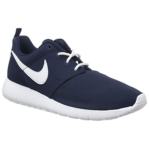 Nike Youth Roshe One Grade School Midnight Navy White Mesh Trainers 35.5 EU
