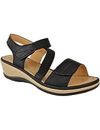 Fashion Thirsty heelberry Donna Love Basse Passanti Casual Pantofole Sandali Slip-ON Misura Scarpe Basse - Ecopelle Nera, 38
