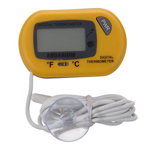 SODIAL Termometro LCD digital agua Acuario Terrario