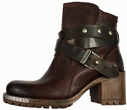 FLY London Lok, Bottes pour Femme - - Purple/Dark Brown