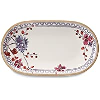 Villeroy & Boch Artesano Provençal Lavendel Rabanera Ovalada, Porcelana, Blanco, 28x16x3 cm