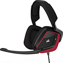 Corsair VOID PRO Surround - Auriculares Gaming (PC/PS4/XONE, USB/3.5mm, Dolby 7.1) color rojo