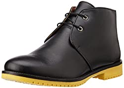 Bata Mens Jay Z Black Boots - 10 UK/India (44 EU) (8016102)