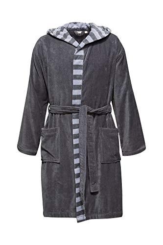 ESPRIT Herren-Bademantel mit Streifen, 100% Baumwolle