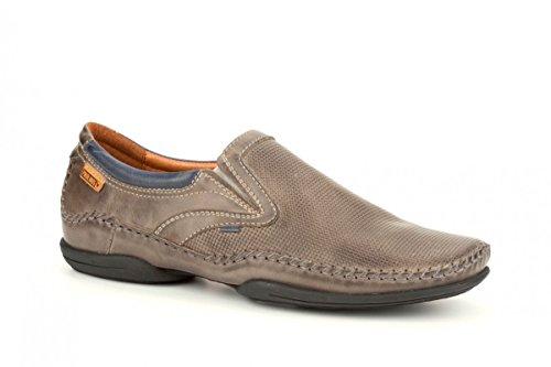 Pikolinos Slipper Puerto Rico 03A-3129 Leder Herren Schuhe Slip-On Grau