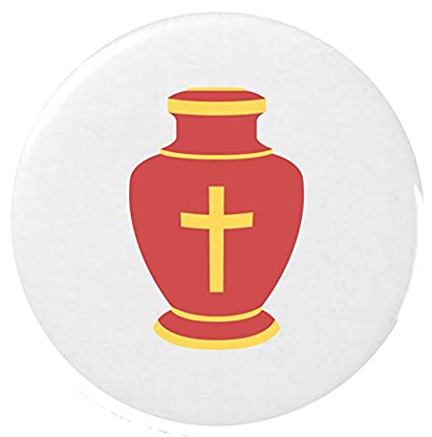 Beerdigung Urn Emoji 25 mm Anstecker / Funeral Urn Emoji 25mm Button Badge