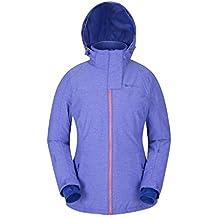 Mountain Warehouse Glade Chaqueta del esquí de las mujeres - capa impermeable de las señoras, Textured, capa del esquí de Breathable, tela caliente, acogedora Morado 40