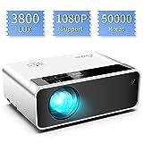 Mini proyector, ELEPHAS Video Proyector 3800 Lux Proyector