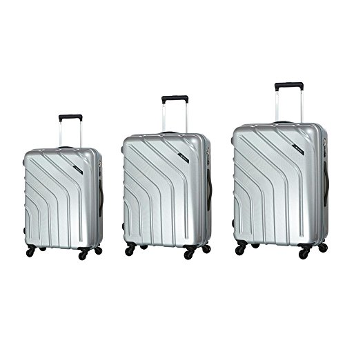caribee-stellar-juego-de-maletas-unisex-adulto-plateado-plata-set-comprises-small-carry-on-medium-an