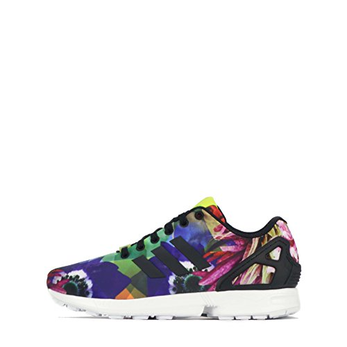 adidas ZX Flux Weave, Senakers a Collo Basso, Unisex Nero multicolore