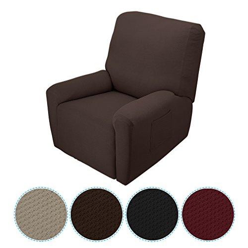 Fodera per Poltrona Monoposto Design Moderno Elegante 90% Poliestere+10% Elastan Comodo Molto Elasticizzate per la Famiglia (Marrone)