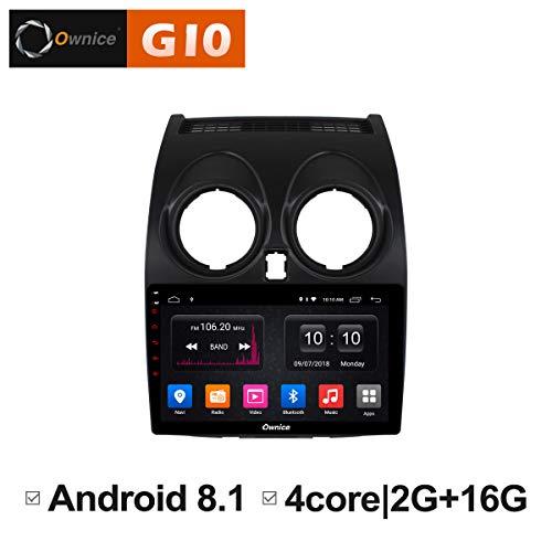 Ownice Quad Core - Reproductor de Radio para Nissan Qashqai 2007 2009 2010 2011 2012 (9 Pulgadas, Android 8.1, Compatible con Bluetooth WiFi, 2 GB, RAM)