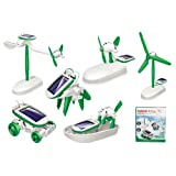 FunBlast Solar Robot Kit; 6 in 1 Learning Educational Kids Station, Robot Toy