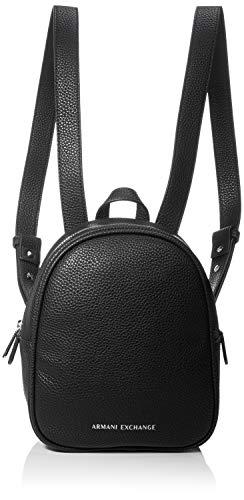 Armani Exchange Damen Medium Rucksackhandtasche, Schwarz (Black), 10x10x10 cm