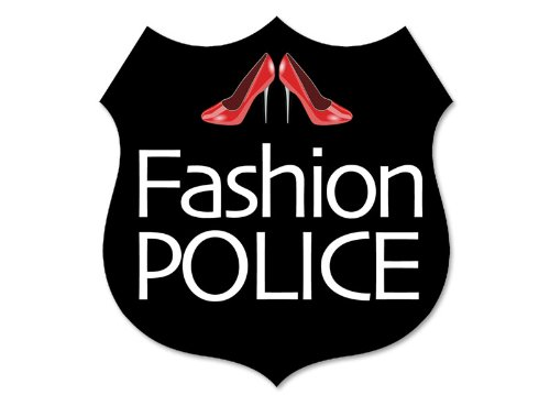 Fashion Police Badge Form Aufkleber (Fun Funny rot High Heels) (American Kleidung Made)