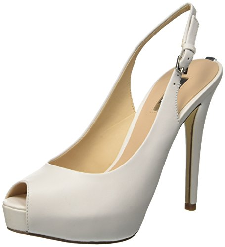 Guess Damen Huele Plateau Pumps, Bianco, 40 EU