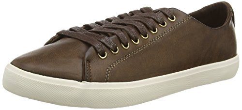 New Look Dylan Luxe, Baskets basses homme Marron (28/Dark Brown)