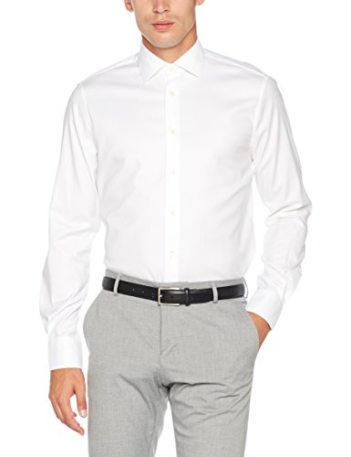 Tommy Hilfiger Tailored Herren Businesshemd Core Stretch Oxford Shirt, Weiß (100), 43 (Oxford Button Weißes)