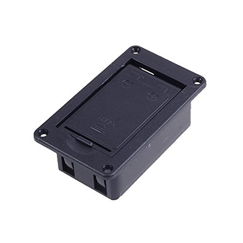 Magideal 9V Battery Case Holder Cover Box for Active Guitar Bass Pickup Electronics  available at amazon for Rs.210
