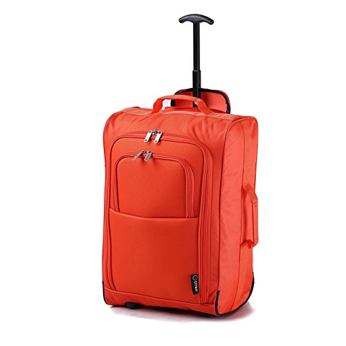 21-55cm-5-cities-black-carry-on-lightweight-cabin-approved-trolley-bag-hand-luggage-orange