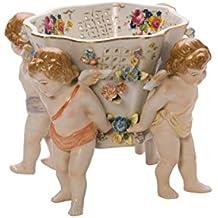 Plato de porcelana escudilla querubines estilo antiguo plato Figura de la