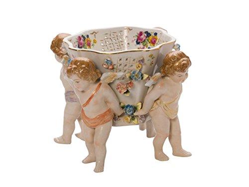 Coupe style antique plat en porcelaine angelots
