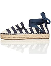 FIND Women's Espadrilles in Stripes with Ankle Ribbon