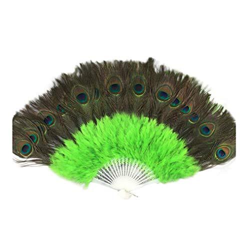 Andouy Retro Faltfächer/Handfächer/Papierfächer/Federfächer/Sandelholz Fan/Bambusfächer für Hochzeit, Party, - Showgirl Kostüm Bilder
