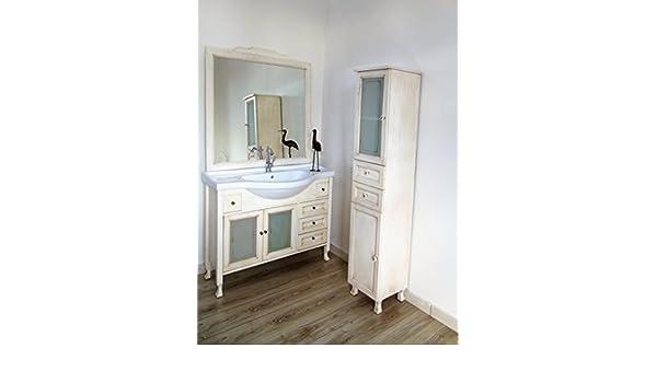 Le chic badezimmermöbel elfenbein creme beige decape gebeizt mit