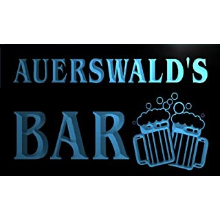 w142859-b AUERSWALD Name Home Bar Pub Beer Mugs Cheers Neon Light Sign