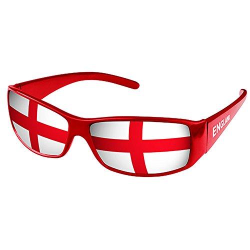 Piersando Sonnenbrille Brille Fahne Fussball EM & WM Länderflagge Augen Fanartikel Land Flagge England