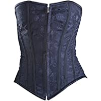 Killer Corsets Women's Sexy Corset Victorian Design Cotton Black Waist Cincher