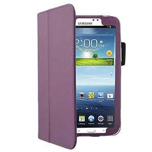 Bestwe Lila Ledertasche für Samsung Galaxy Tab 3 7.0 (7 Zoll) Schutzhülle hülle mit automatischer Schlaf/Wach auf Funktion