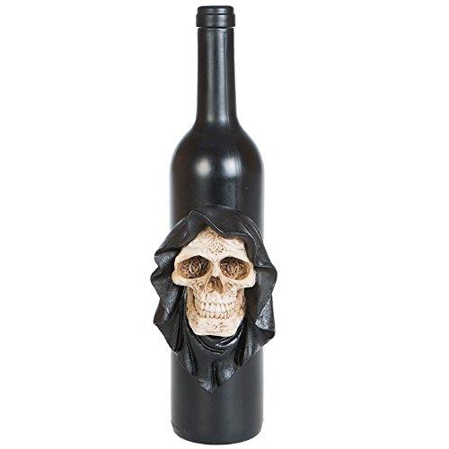 Sensemann Reaper Deko Flasche Weinflasche Totenkopf Skull Gothic Halloween Dekoration