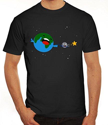 Geschenkidee Herren T-Shirt mit Sternenfänger Motiv von ShirtStreet Schwarz