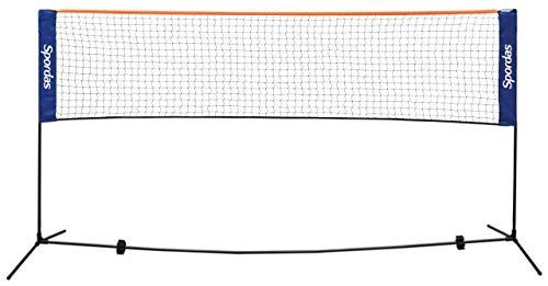 Badminton Netz / Breite: 5 m / Höhe: 1,55 m / Material Teleskopstangen: robuster Stahl / Gewicht: 2,5 kg / inkl. Transporttasche
