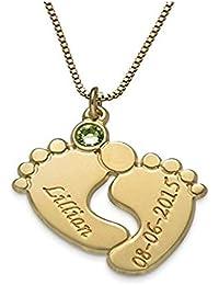 f5560baf5304 Amazon.es: bebe recien nacido - Chapado en oro: Joyería