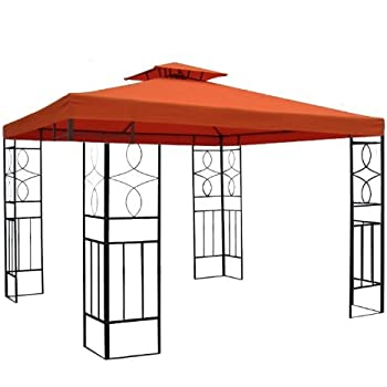 terena metall gartenpavillon 3x3 m gazebo mit entl ftungsfunktion garten pavillon. Black Bedroom Furniture Sets. Home Design Ideas