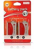 2 x batteries LPE5 MP EXTRA ® LP-E5 pour CANON reflex - LP E5 optimisée pour CANON EOS 450D, EOS 500D, EOS 1000D