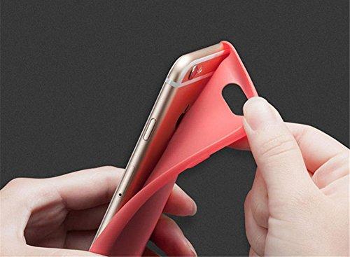 CAOLATOR TPU Bumper Hülle Schutzhülle Matten Extra Dünn Ultra Leicht Bumper Schutzhülle Hülle Schutzhülle für Apple iPhone6s Plus/ 6Plus (Rot) Rot