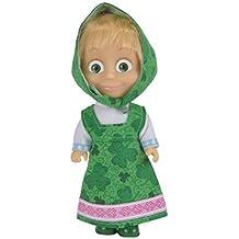 Simba Masha y el oso Masha - Muñeca con vestido de color Verde 12cm