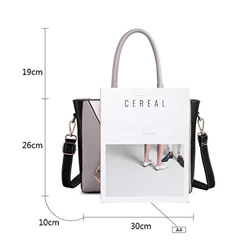 Miss Lulu Leather Look V-Shape Shoulder Handbag Img 2 Zoom