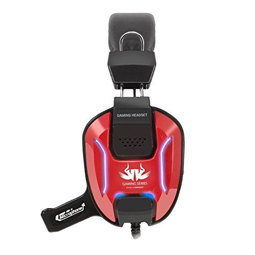 Casque de jeu casque Sumvision® PC Gaming Casque de jeu filaire USB avec microphone intégré Akuma GX 800 pour PC Windows et PC portable ...