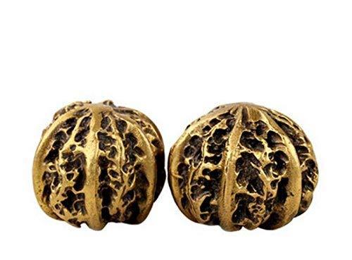 Gpzj Kupfer Hand Spielen Stücke Wenwan Walnuss Walnuss Fitness Ball Massage auf einem Handball Senioren schickte Geschenke Figur/Geschenke/Büro/Ornament/Handwerk/Home Decorations