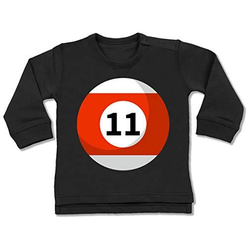 Shirtracer Karneval und Fasching Baby - Billardkugel 11 Kostüm - 12-18 Monate - Schwarz - BZ31 - Baby ()