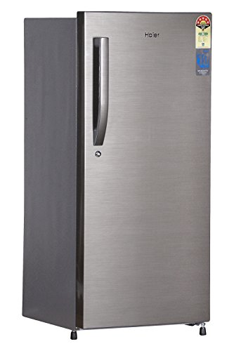 Haier 2157 BS-R Direct-cool Single-door Refrigerator (195 Ltrs, 5 Star Rating -2016, Brushed Silver)