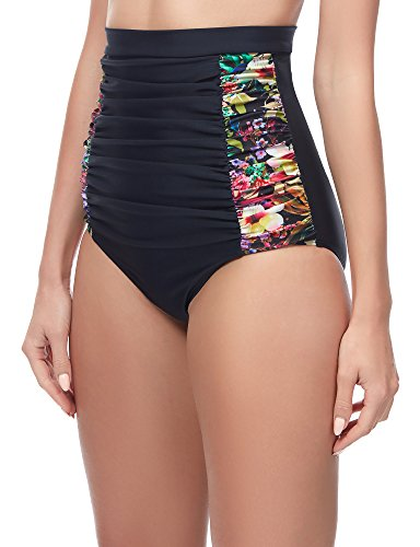 Merry Style Damen Bikinislip MS10-146 Schwarz/Blumen