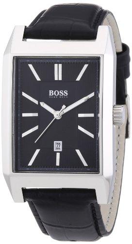Hugo Boss  1512915 – Reloj de cuarzo para hombre, con correa de cuero, color negro