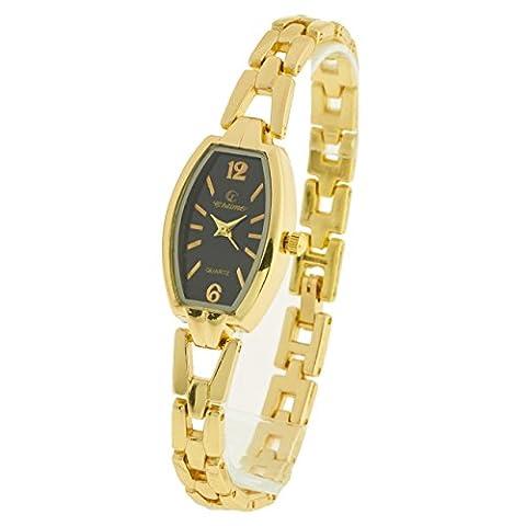 Montre-Concept - Montre analogique Femme - bracelet métal doré cadran