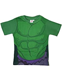 The Incredible Hulk Childrens T-Shirt Official Marvel Avengers Kids Costume Clothing (2-3 Years, Hulk)